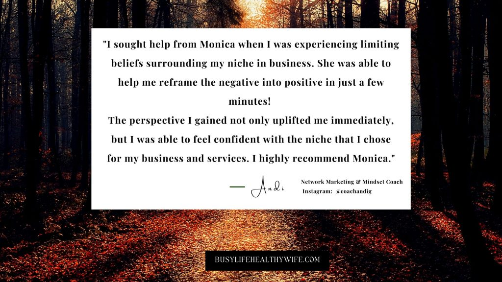 Andi testimonial for busy life healthy wife pictured on a success journey   Building Businesses That WOW